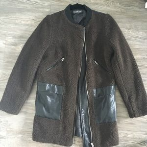 Members Only wool and leather bomber  jacket